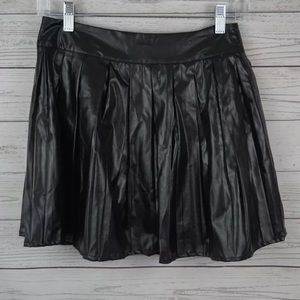 ASOS faux leather flare skirt